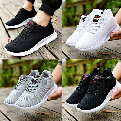 Mens Womens Sports Shoes Trainers Lace Up Memory Foam Casual Walking Running Gym