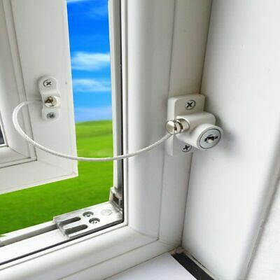 Window Security Chain Lock Door Restrictor Guard Kid Safety Anti-Theft Locks Lap