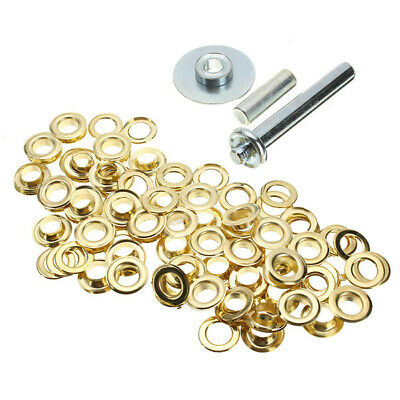 100pcs Brass Coated Canvas Buckle Quick Snap Fastener Buttons Screws Kits