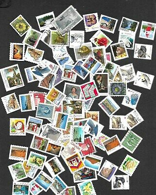 CANADA   100   SMALLS  AND CHRISTMAS STAMPS DIFFERENTS 2019 incuded