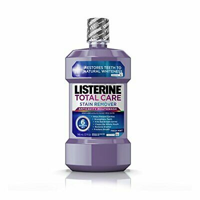 Listerine Total Care Stain Remover Anticavity Mouthwash, Fresh Mint 32 oz
