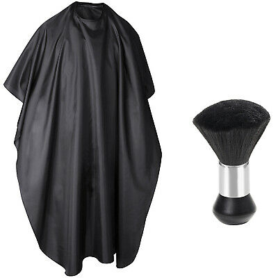 TRIXES Full Length Unisex Hairdressing Barbers Gown Neck Duster Clippings Brush