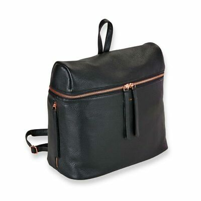 Levenger Carrie Leather Backpack- Black