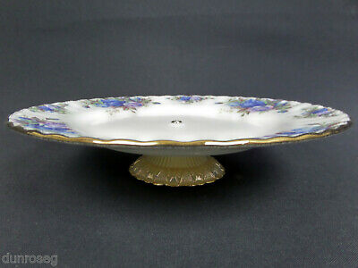 """MOONLIGHT ROSE 20cm 8"""" CAKE STAND / LOW COMPORT, GOOD CONDITION, ROYAL ALBERT"""