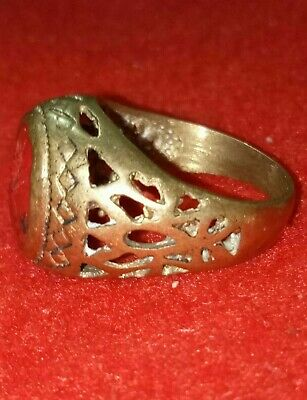 LOW OUTBID !! EXTREMELY Ancient authentic BRONZE RING quality ARTIFACT.