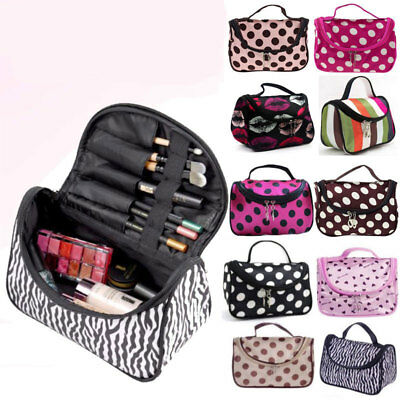Women Cosmetic Bag Makerup Case Travel Toiletry High Capacity Organiser Handbags