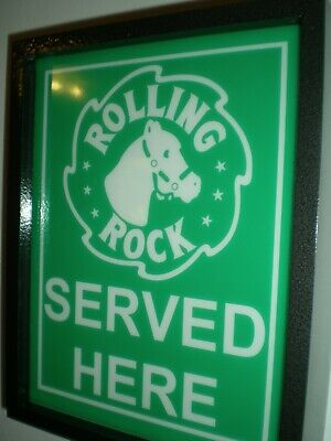 Rolling Rock Tavern Beer Bar Man Cave Lighted Advertising Sign