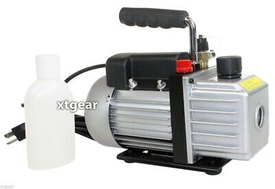 Single Stage 3CFM 1/4HP Rotary Vane  HVAC Vacuum Pump Air AC A/C R410a R134a