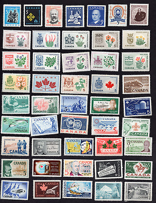 Canada Collectionn of 100 All Different 5 Cent Issues MNH