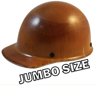 Jumbo Large Shell Skullgard Cap Style w Ratchet Suspension - Natural Tan Color