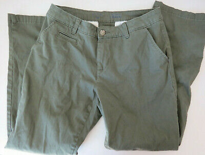 RIDERS by Lee Women's Ladies Olive Green Khaki Pants Chinos 8p Petite Stretch