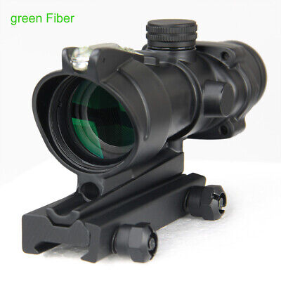 4x32 BAC ACOG Hunting Red/Green Reticle Optical Sight Tactical Rifle Scope 600M