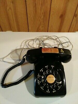 Vintage Western Electric Black Rotary Desk Phone -Untested
