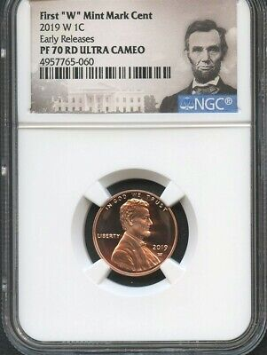"""2019 W First """"W"""" Mint Mark Cent EARLY RELEASES NGC PF70 RD U.C. Portrait"""