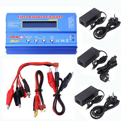80W IMAX B6 LCD Screen Digital RC Balance Charger for Lipo NiMh Battery+Adapter^