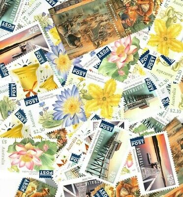 Australia Postage Stamps Mostly $1 & $2, $1000 face value, Full GUM, FREE POST