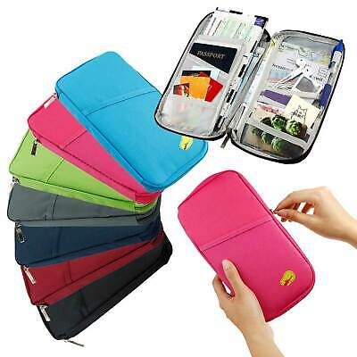 Travel Passport Credit ID Card Cash Wallet Purse Holder Case Document Bag US