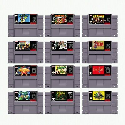 SNES Game  Earthbound Zelda Mario Chrono Trigger Mana DK US/CAN Version