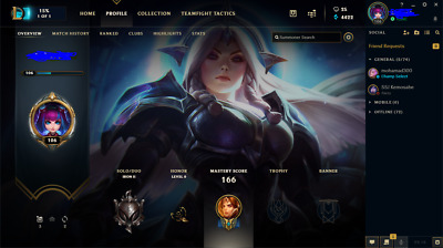 LEAGUE OF LEGENDS account lv106 / EUWest / unranked / support main skins /  2019