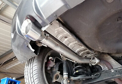 "Rear silencer delete pipe for Nissan Juke Nismo RS ( 2wd ) - 4"" slash cut"