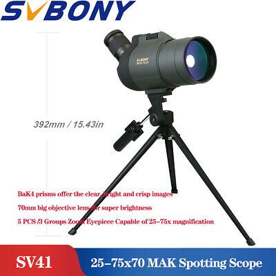 SVBONY 25-75x70 MAK Spotting Scope Telescope SV41 Refraction Zoom Spotting Scope