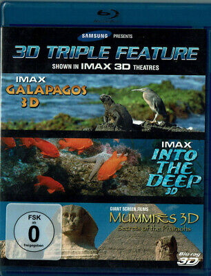 3D Triple Feature: IMAX Galapagos + IMAX Into the Deep + Mummies - Secrets of..