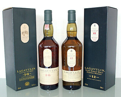 2 x Lagavulin: 16 Jahre und 12 Jahre Years 57,80%vol Single Malt Scotch Whisky