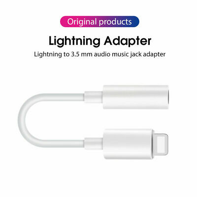Genuine Lightning to 3.5mm Headphone Jack Adapter Type-C AUX For iPhone Huawei