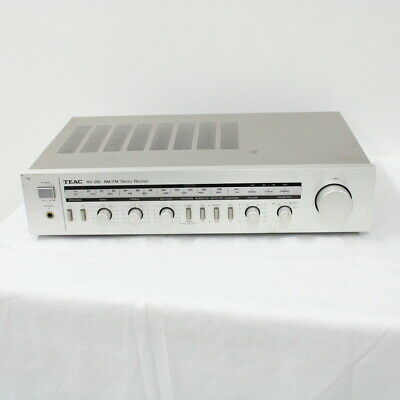 TEAC RV-210 AM/FM Stereo Receiver Silver With Power Cable Attached #454