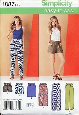 Simplicity Sewing Pattern 1887 Misses 16-24 Pants, Skirts & Shorts In Plus Sizes