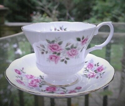 "Vintage Beautiful ""Pink Roses"" Royal Albert Cup and Saucer Made in England"
