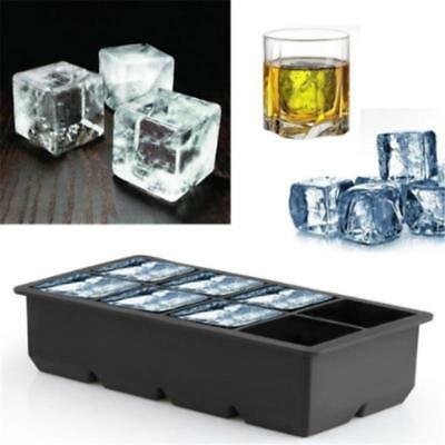 8-Grid Giant Large Size Silicone Ice Cube Mould Square Mold Tray DIY Maker Tools