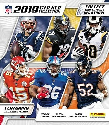 2019 Panini NFL Football Stickers Collection 50ct Sealed Box