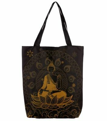 Thai Buddha Zip Up Cotton Tote Shopper Shoulder Shopping Bag New With Tags
