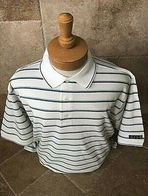 New NWT Mens Pringle  L, XL, 2X/3X White w Green Stripes Polo Style Golf Shirt
