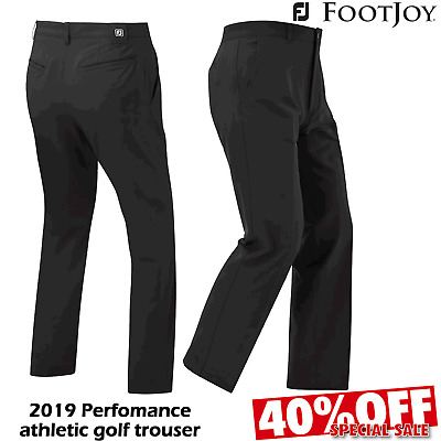 Footjoy Performance Athletic Fit Mens Golf Trousers Black @ 40% Off Rrp