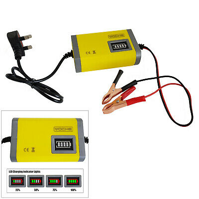12V 2Amp Intelligent Automotive Car Bike Motorcycle Leisure Battery Charger