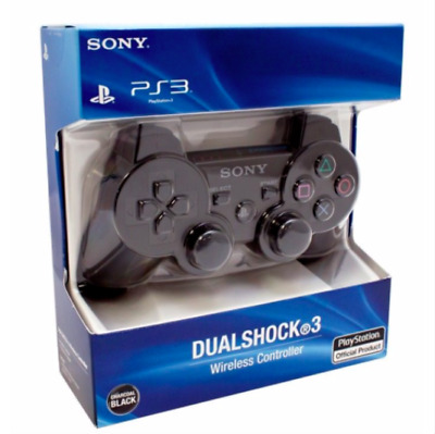 Original Sony PlayStation 3 PS3 DualShock 3 Wireless SixAxis Controller Black