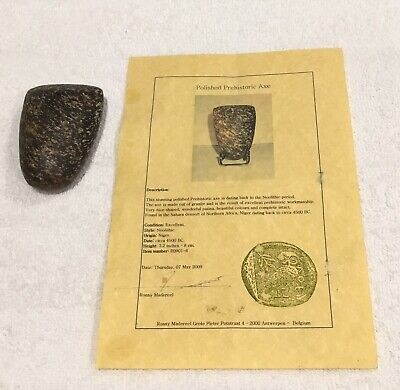 neolithic stone axe With Certificat