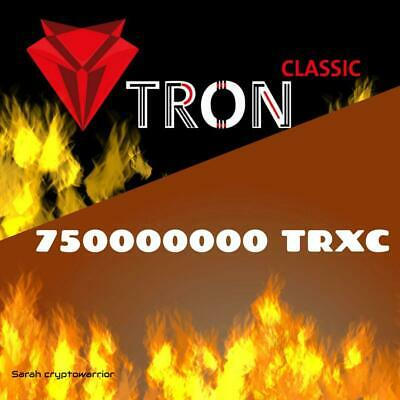 750000000 TronClassic (TRXC) CRYPTO MINING-CONTRACT (750M TRXC), Crypto Currency