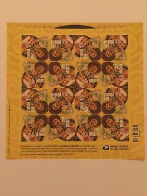 """""""Jimi Hendrix """" (1) sheet of 16 USPS FIRST CLASS FOREVER POSTAGE STAMPS"""
