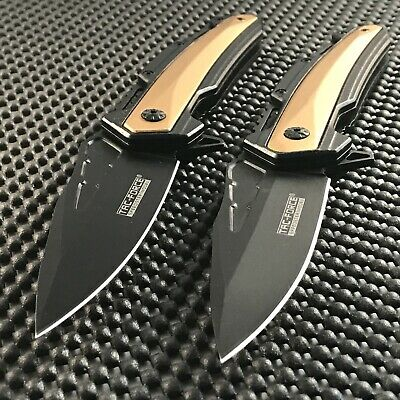 2 x Tac Force Drop Point Spring Assisted Tactical Outdoor Folding Pocket Knife