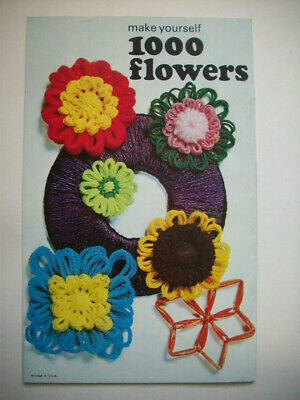 Enjoy making 1000 flowers with flower loom pattern booklet