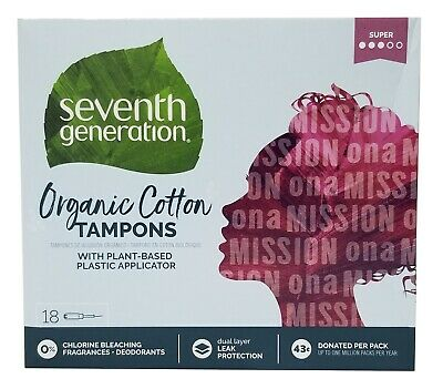 Seventh Generation Free and Clear Tampons with Comfort Applicator - Super 18 ct