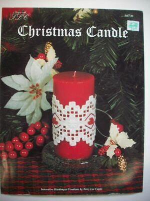 Christmas Candle   Hardanger Embroidery  pattern booklet