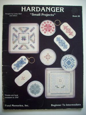 Small Projects   Hardanger Embroidery  pattern booklet
