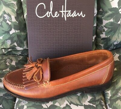 amazing selection performance sportswear dependable performance COLE HAAN DWIGHT Men Brown Leather Executive Tassel Loafers ...