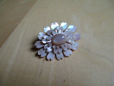 Vintage pink mother-of-pearl pin