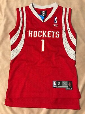 huge discount d6035 3be01 REEBOK THROWBACK TRACY McGrady Houston Rockets TMAC Red Jersey YOUTH Small  NWT!