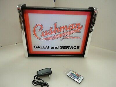 Cushman Motor Scooters Sales Service LED Display light sign box